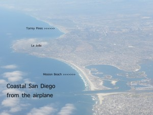 San Diego from plane